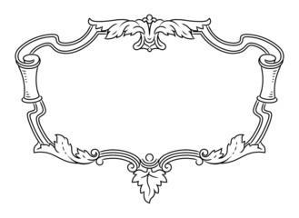 Vector outline frame, elegant vignette