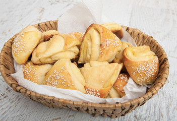 Homemade beaking small bread like snacks
