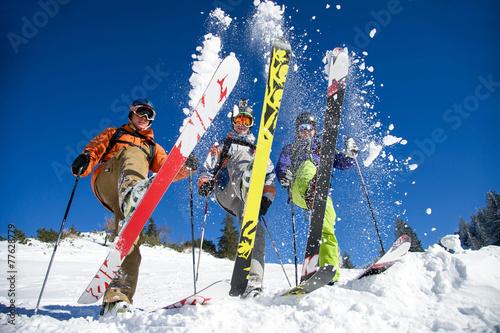 Gruppe Skifahrer - 77628779