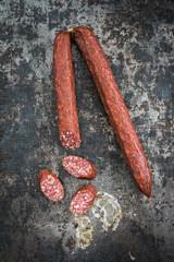Cabanossi sausages