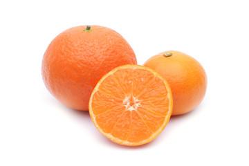 Mandarin fruit on white