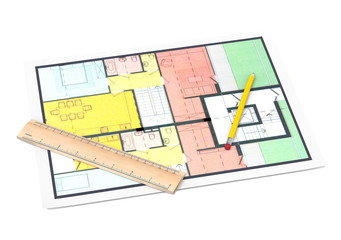 House plan on white background
