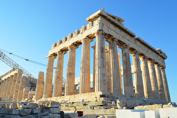 Parthenon of the athens acropolis