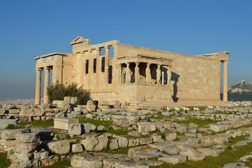 Erechtheum temple in the athens acropolis