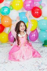 Carnival color baloon princess