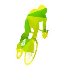Abstract vector cyclist