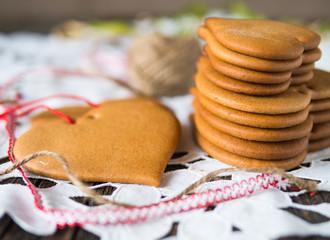 cookies made of honey dough