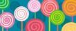 spiral lollipops in oblong - 77633322