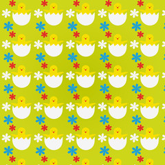 Pattern with Easter Chicks