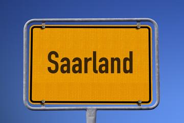 Ortsschild Saarland