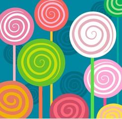 spiral lollipops in square