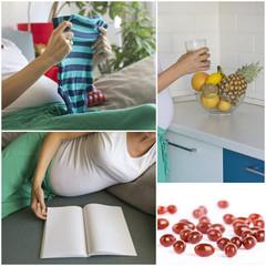 Pregnancy collage