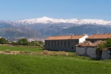 neighborhood of Granada, Spain, Sierra Nevada mountain