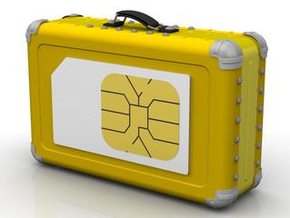 SIM-карта для путешествий. Концепция