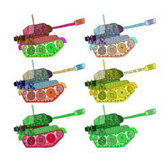 set tanks hippie colors