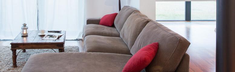 Resting area inside living room