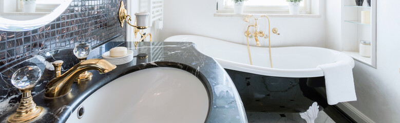 Luxurious and expensive bathroom