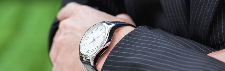 Elegant man with a watch