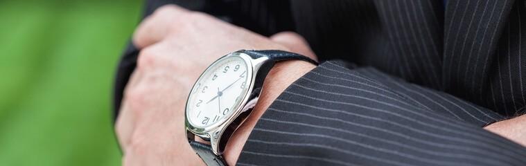 Elegant man with a watch