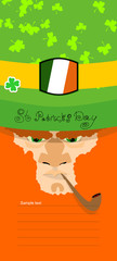 St. Patrick's Day greeting card, poster