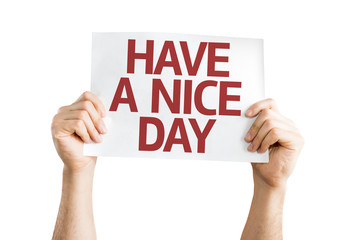 Have a Nice Day card isolated on white background