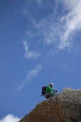 scalatore sulla cima