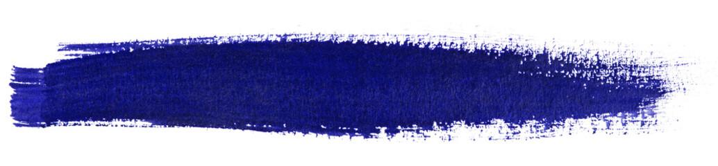 Blue stroke of watercolor paint brush
