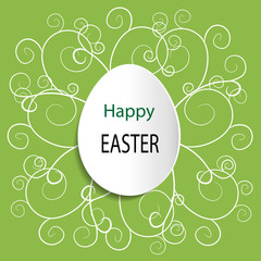 Green vector Easter background