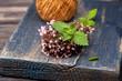 Marjoram Origanum vulgare and Mint