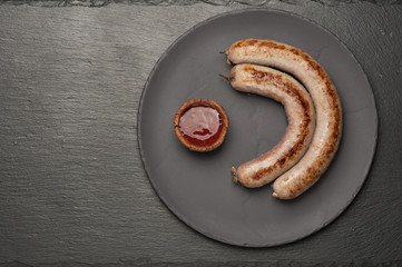 grilled meat sausage