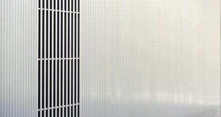 Detail of metal facade