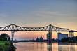 Leinwandbild Motiv rendsburg hochbrücke