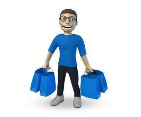 Mann beim einkaufen