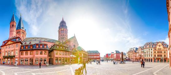Mainzer Dom und Domplatz Panorama
