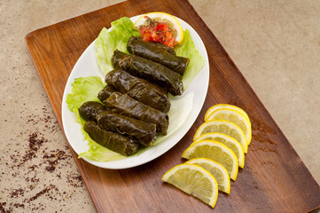 Stuffed vine leaves , Lebanese Cuisine