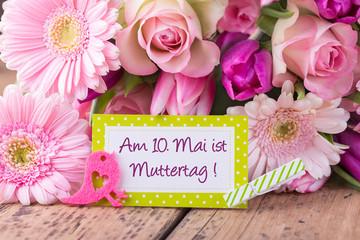 Erinnerung - 10. Mai ist Muttertag