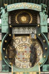 Famous historical figures clock in Vienna, Austria