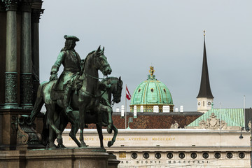 Hofburg Palace detail in Vienna — Khevenhüller horse statue