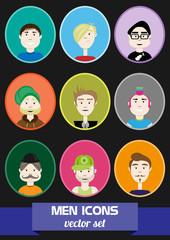 Männer Icons Vektor Set