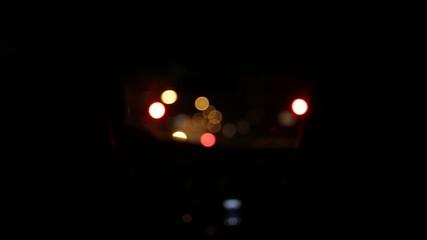 Nacht im Auto Stadt