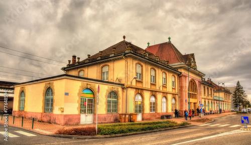 Leinwandbild Motiv Railway station of Saint Louis - Alsace, France