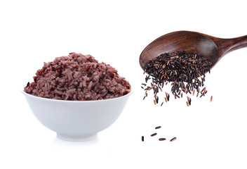 cooked and grain riceberry isolate one white