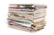 Pile of old newspapers and magazines - 77649597