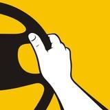 Fototapety Hand on the wheel