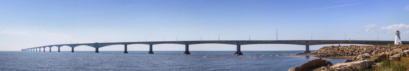 Confederation Bridge panorama, PEI Canada