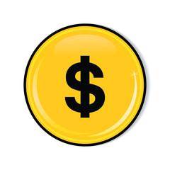Money icon. Dollars icon. Financial symbol.