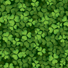 Clover leaves background - seamless
