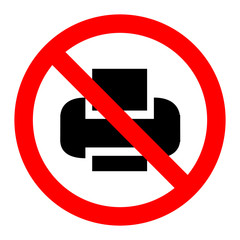 No print sign icon vector