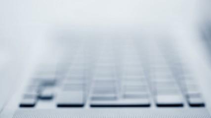 Laptop Keyboard, blue tone