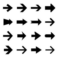 Arrow icon set vector and icon